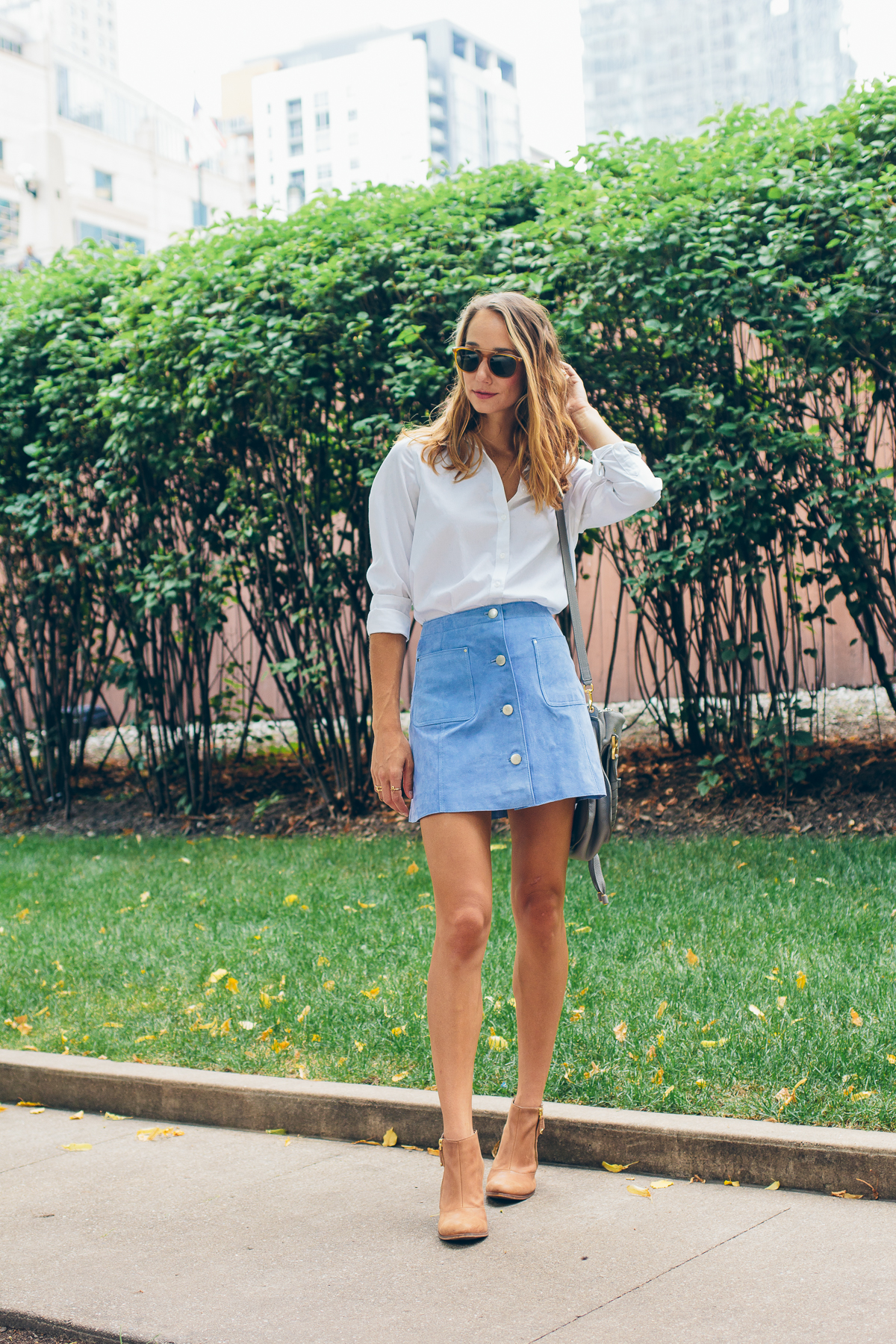 buttoned up suede skirt —via @TheFoxandShe