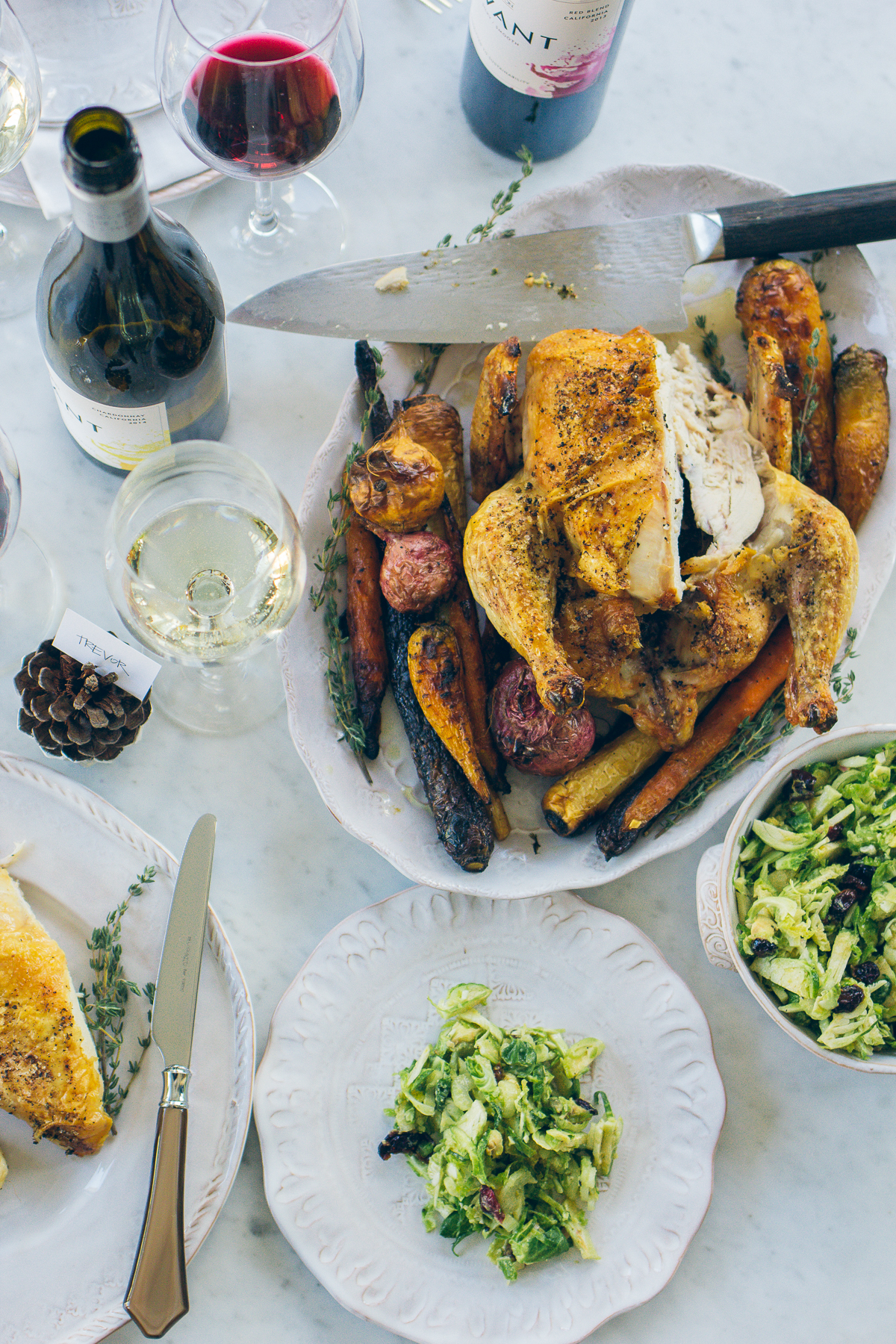 a simple and elegant holiday dinner idea — via @TheFoxandShe