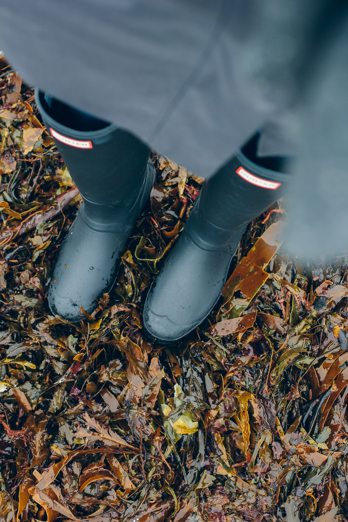 matte black hunter boots — via @TheFoxandShe