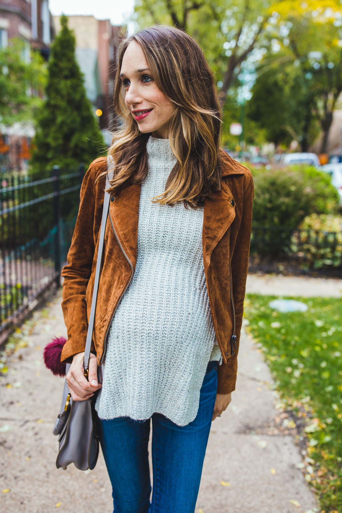 how to style a suede jacket for fall