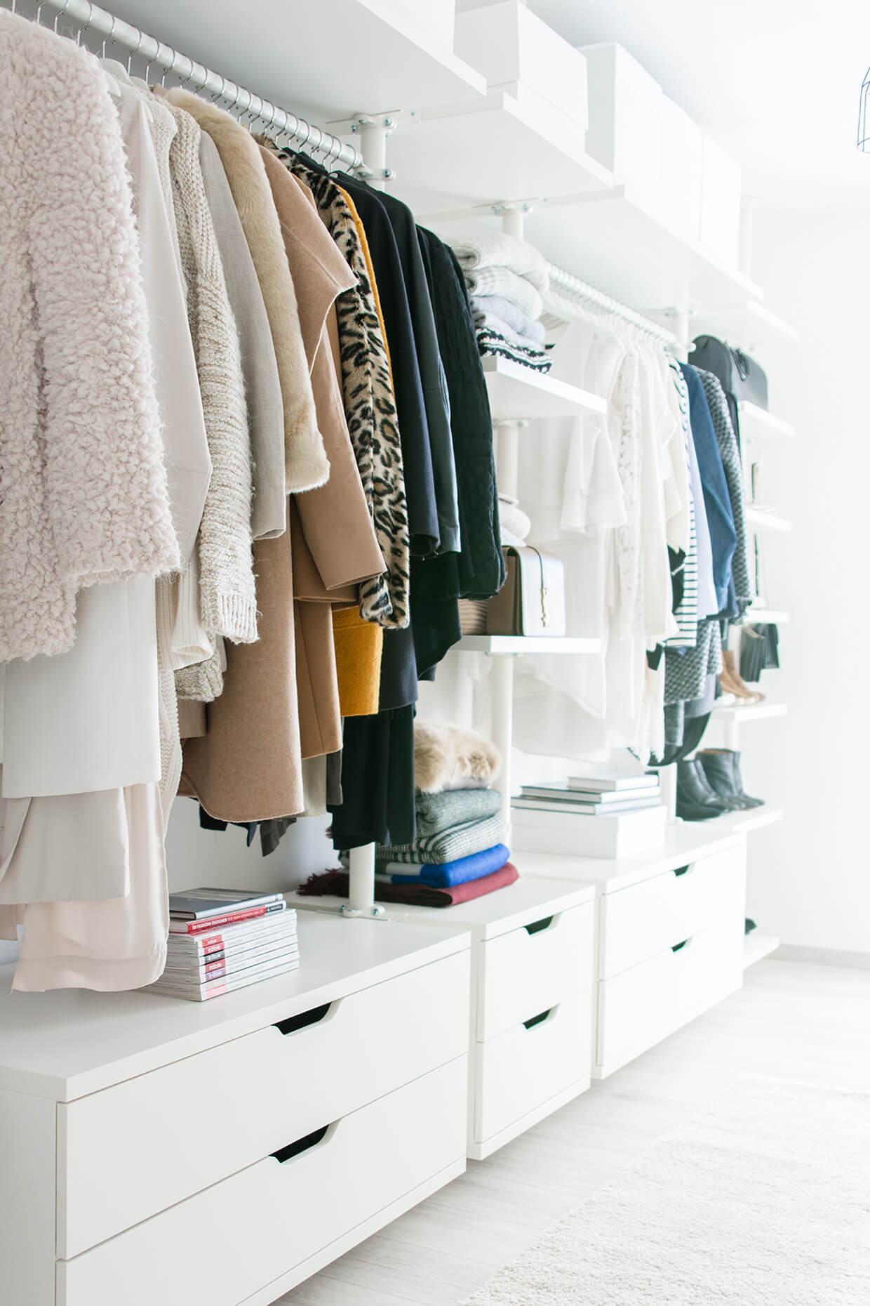 ikea walk in closet