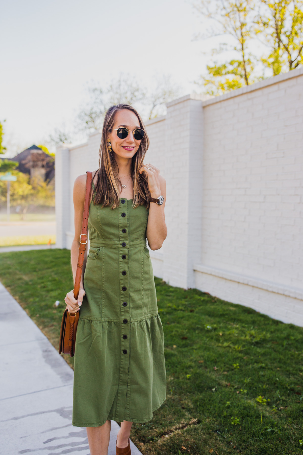 mom style: a midi dress outfit