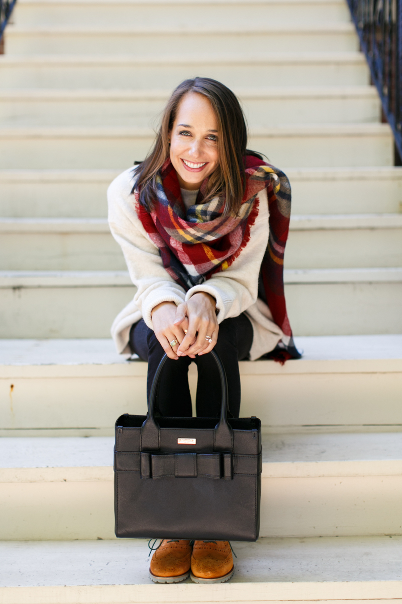 fall style inspiration, oxfords, oversized scarf, plaid scarf, women's fashion, the fox and she, blair culwell