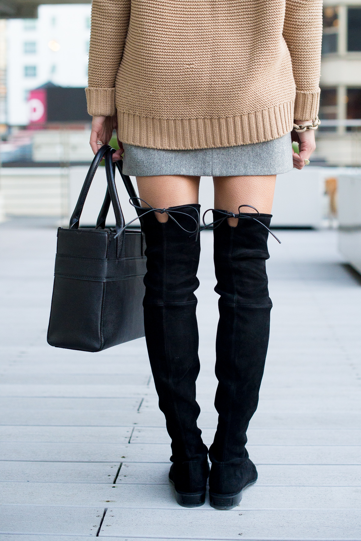 lowland boots, stuart weitzman boots, over the knee  boots, winter outfit, women's fashion, the fox and she