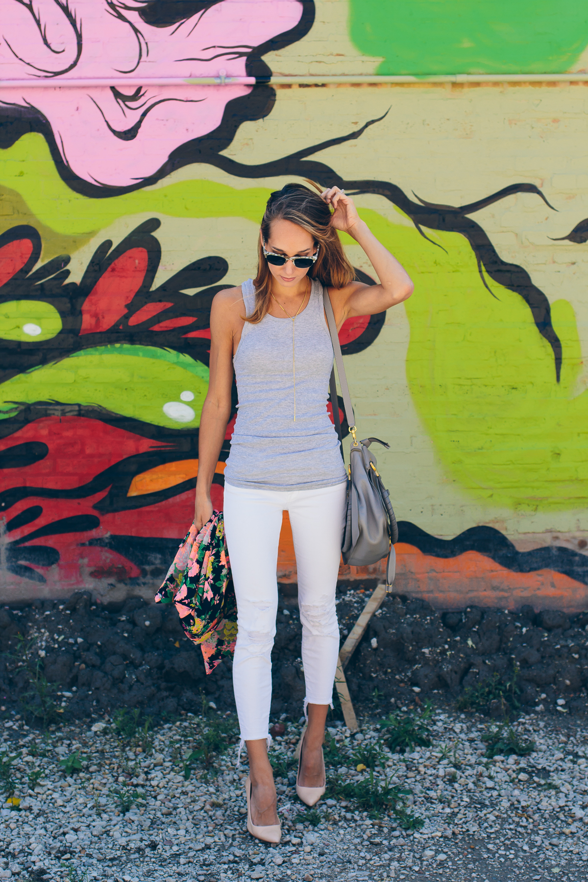 casual summer outfit #HanesOffDutyStyle — via @TheFoxandShe
