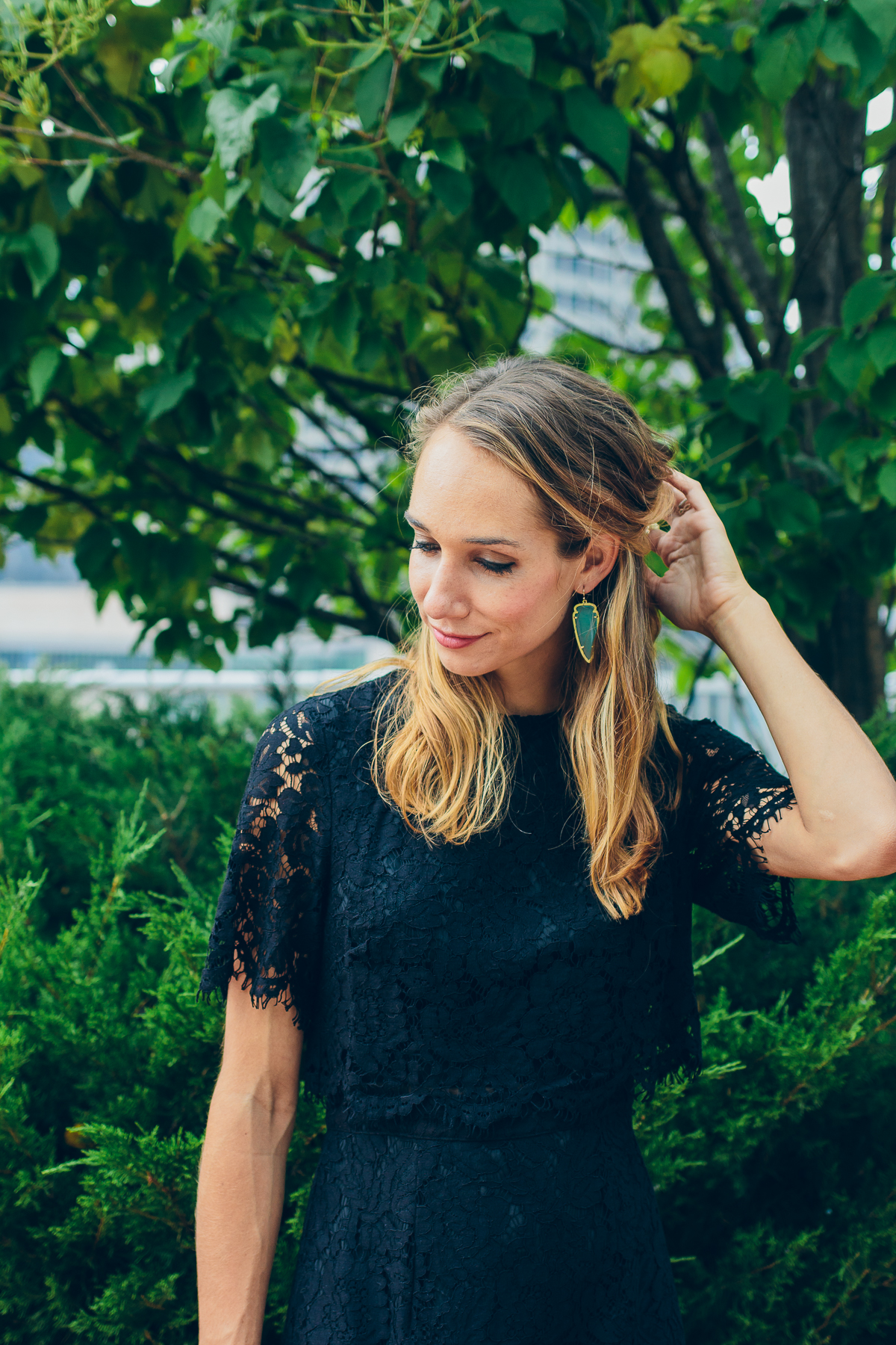 Black Lace Dress — via @TheFoxandShe