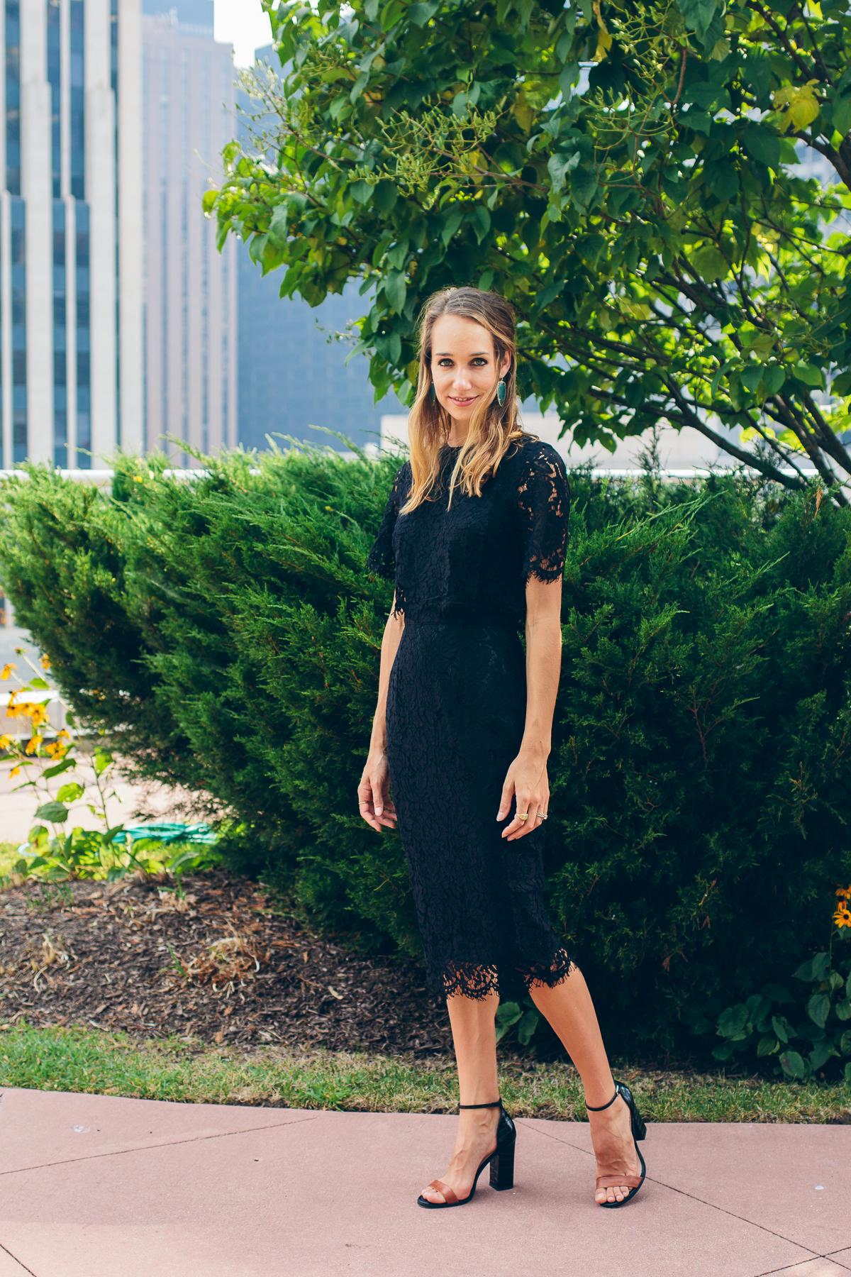Black Lace Dress —via @TheFoxandShe