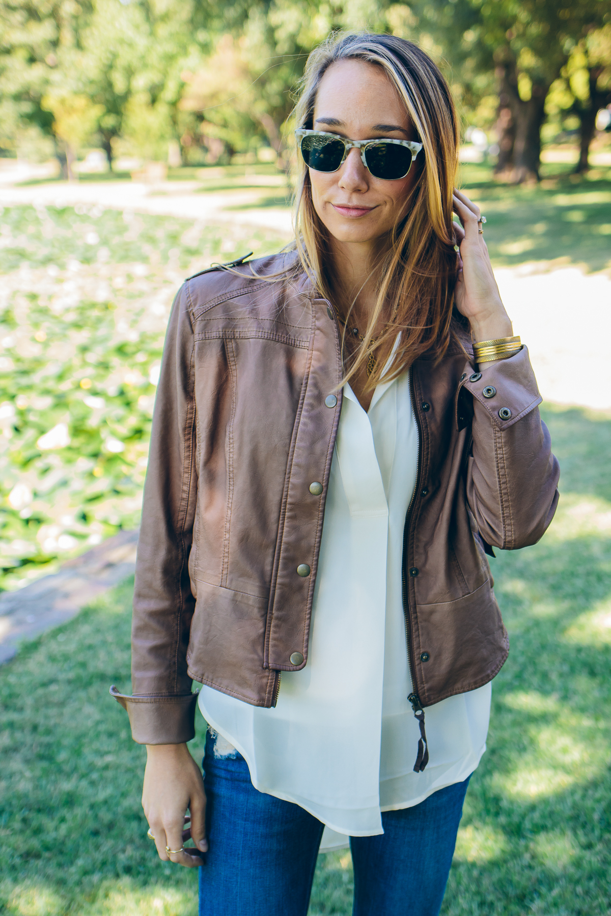 vegan leather jacket — via @TheFoxandShe