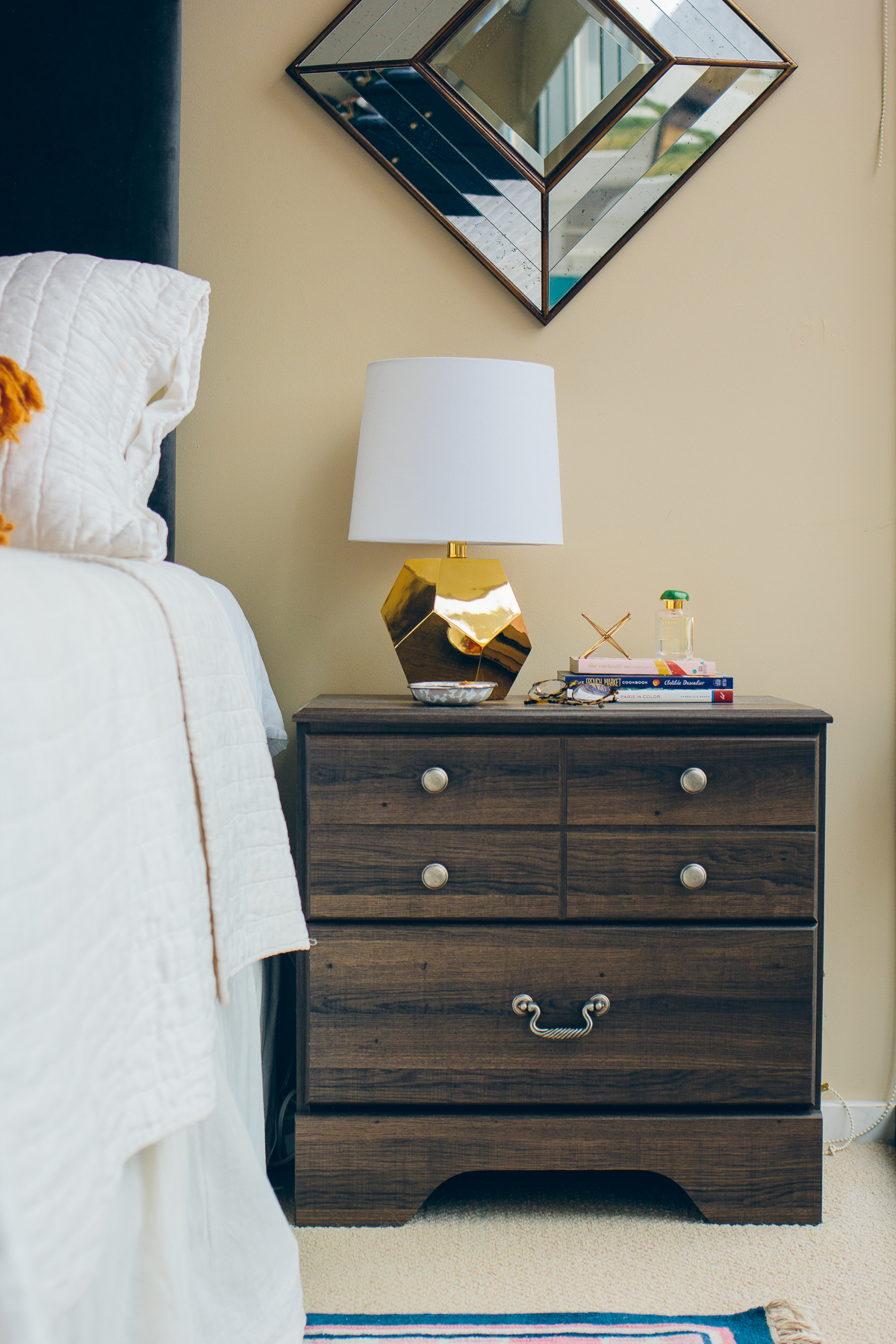 how to style a bedside table —via @TheFoxandShe