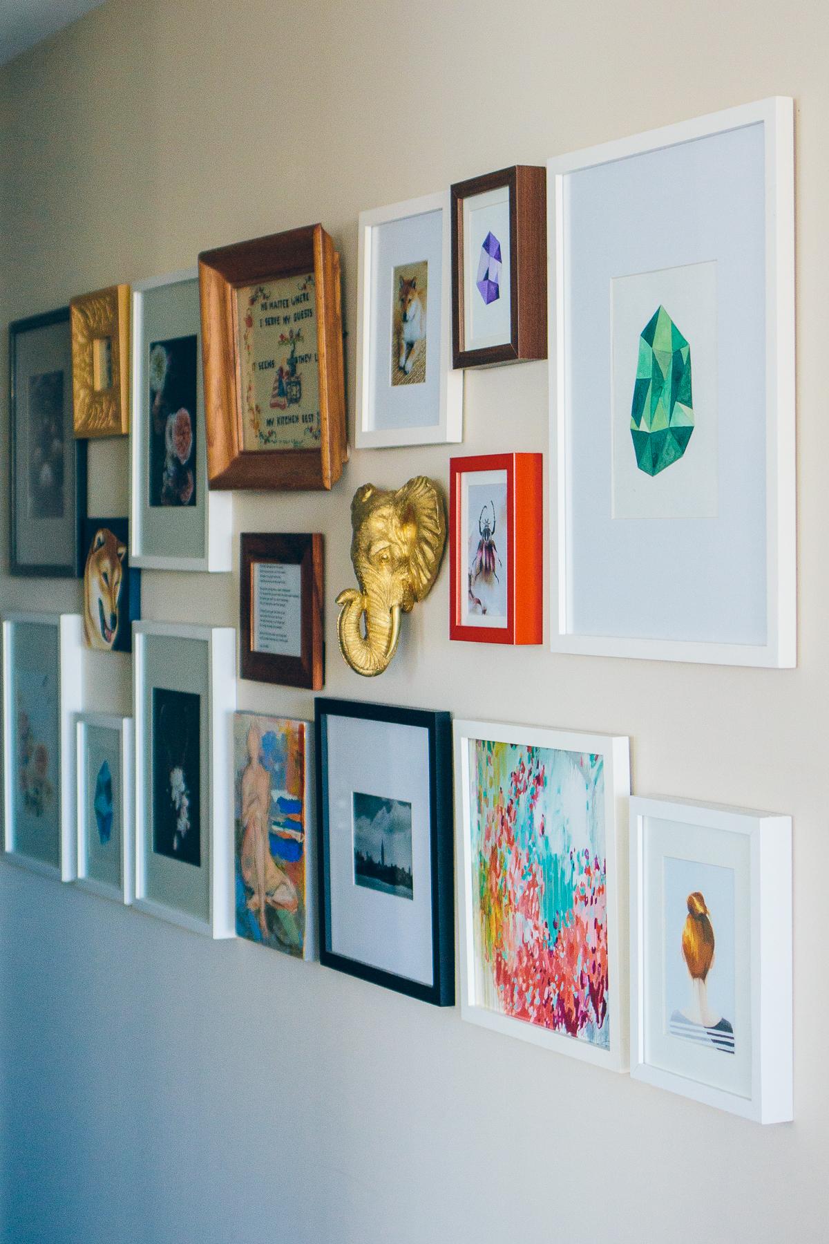 minted artwork, gallery wall, small art prints —via @TheFoxandShe