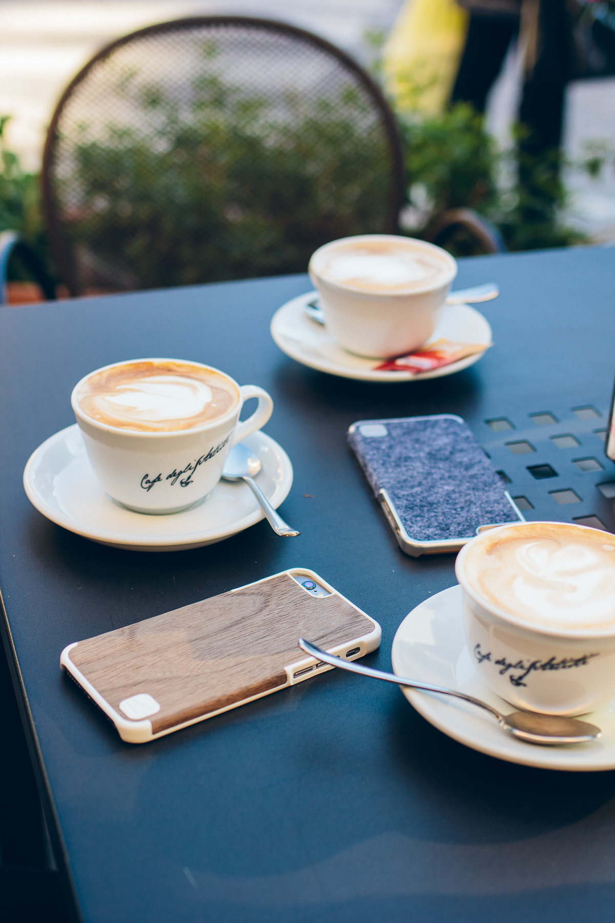 cappuccinos, wool & wood iphone cases — via @TheFoxandShe