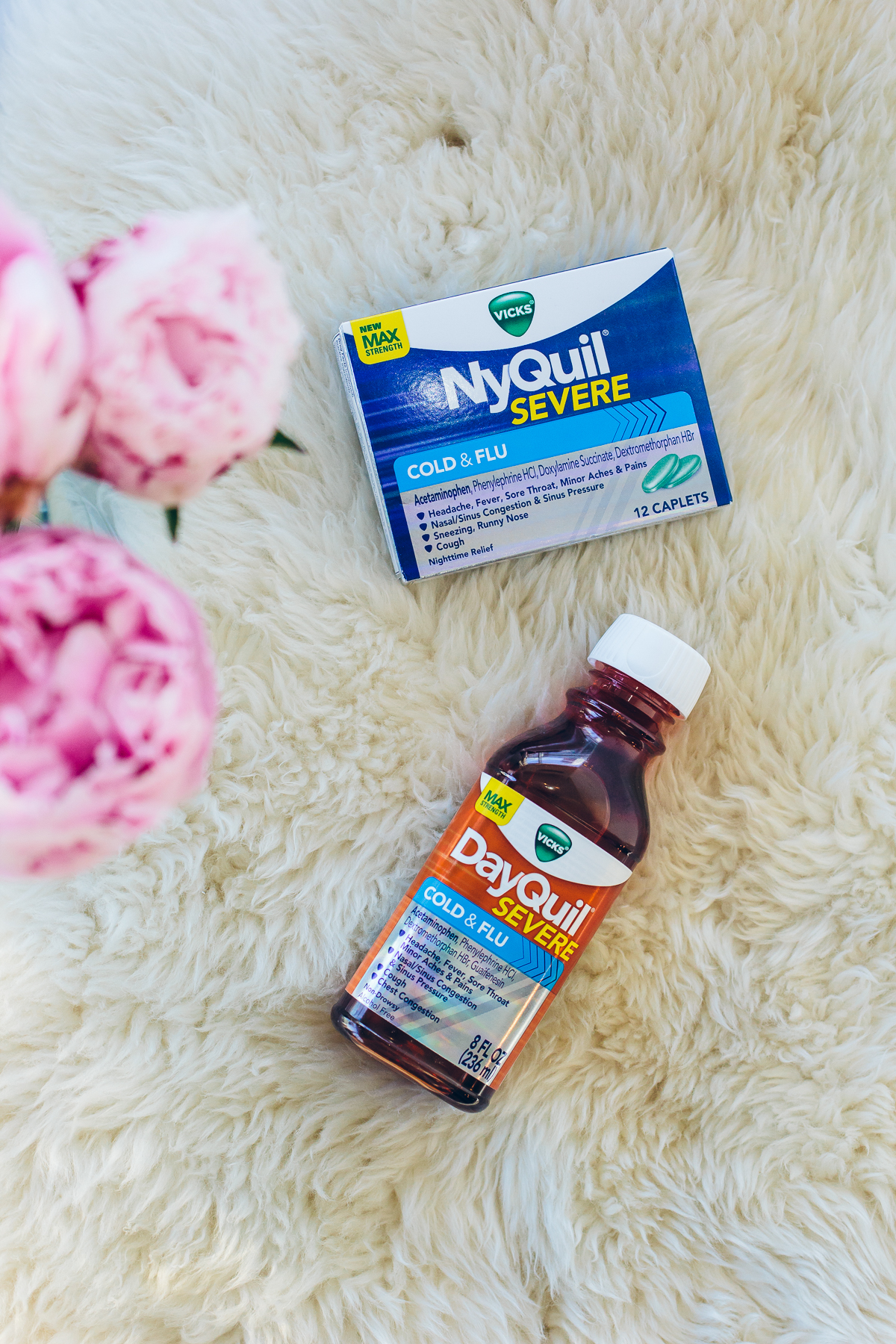 how to stay healthy during winter, Vicks DayQuil Severe/NyQuil Severe — via @TheFoxandShe