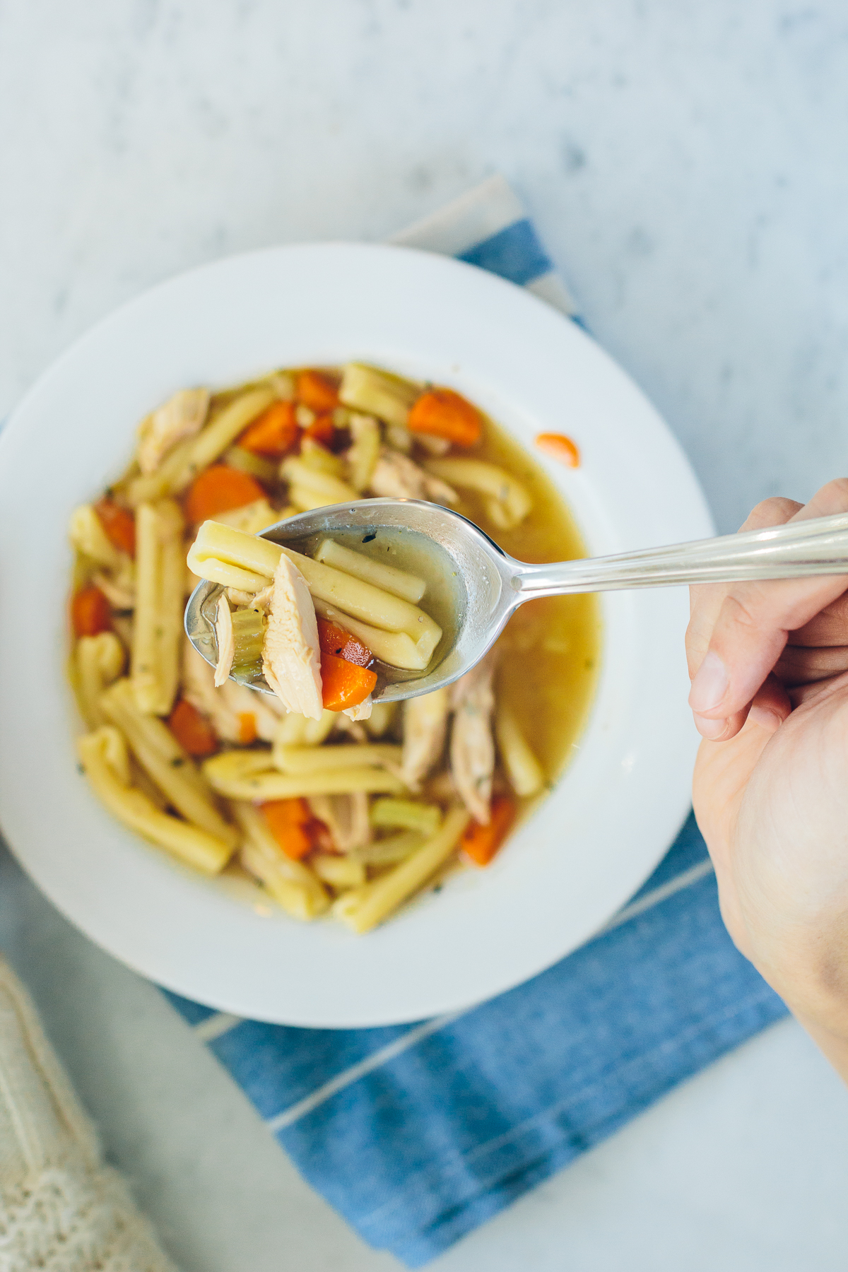 homemade chicken noodle soup, stay healthy during winter —via @TheFoxandShe