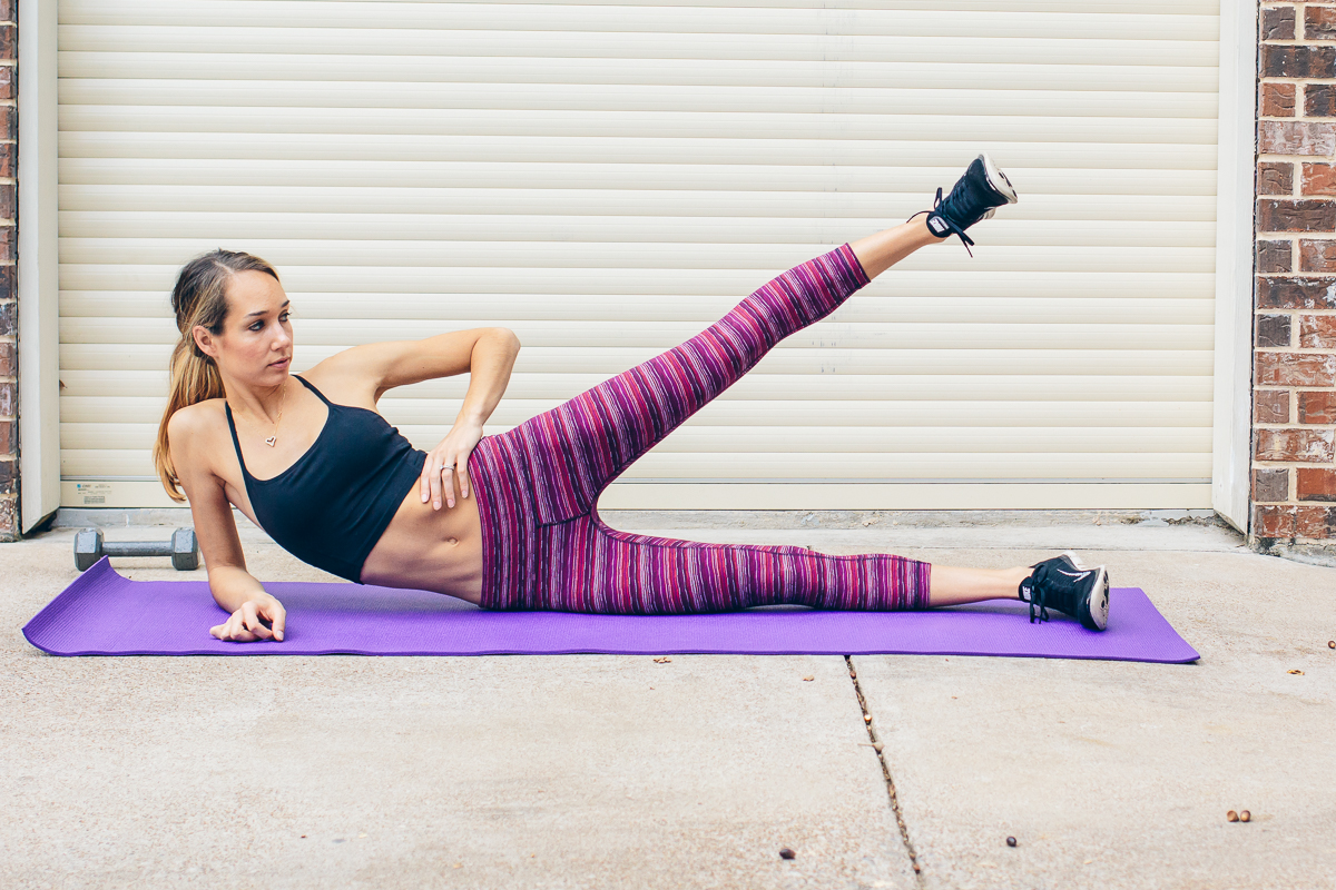 leg lifts, quick at-home workout — via @TheFoxandShe