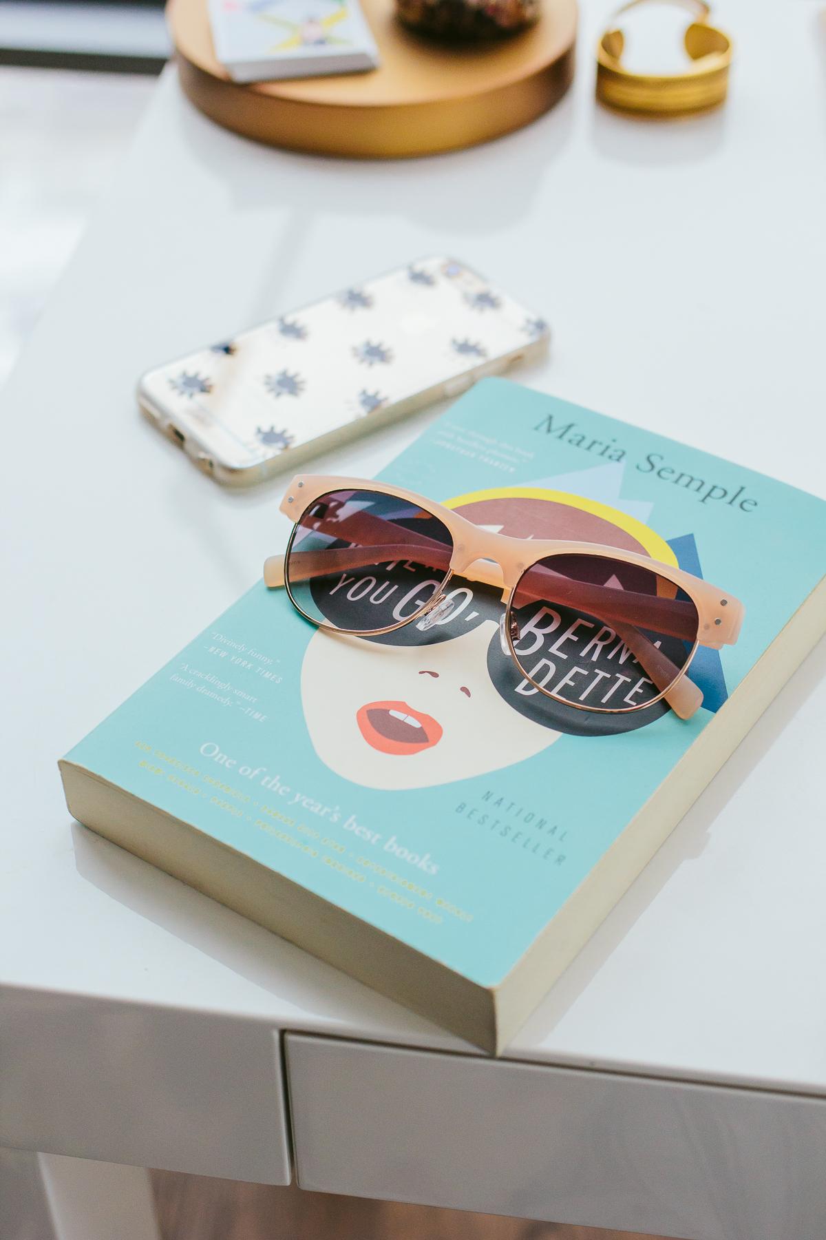 beach items, pink sunglasses —via @TheFoxandShe