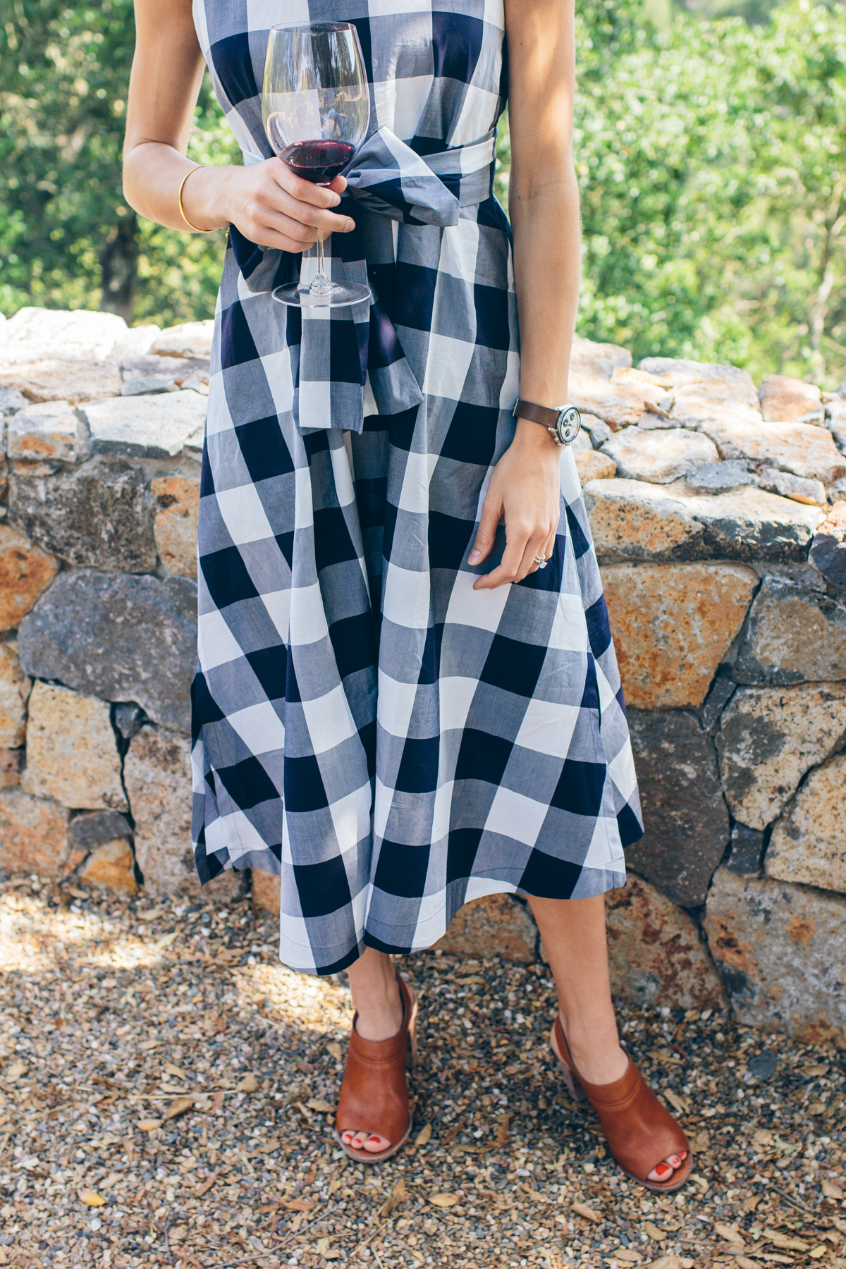 gingham dress — via @TheFoxandShe
