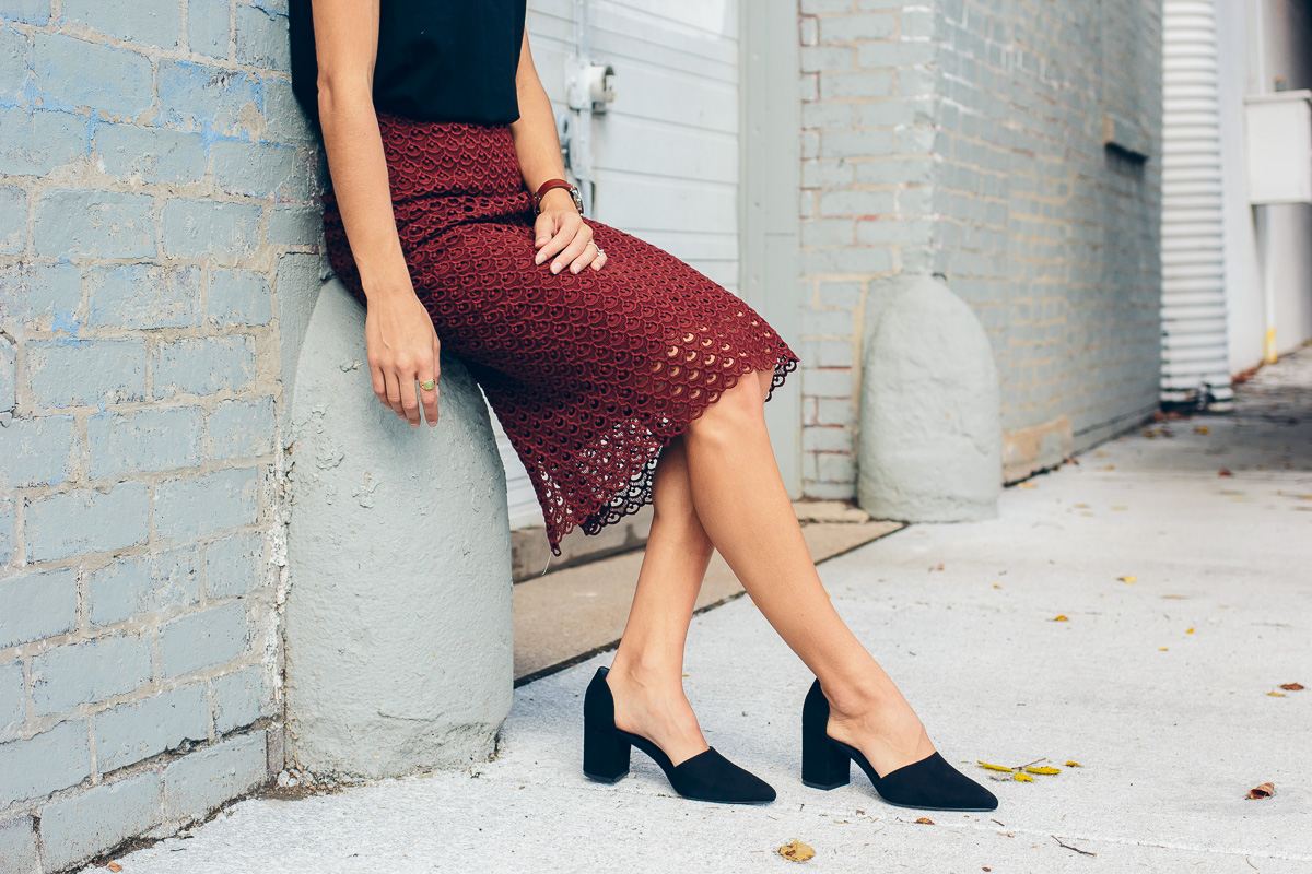 @AnnTaylor lace pencil skirt