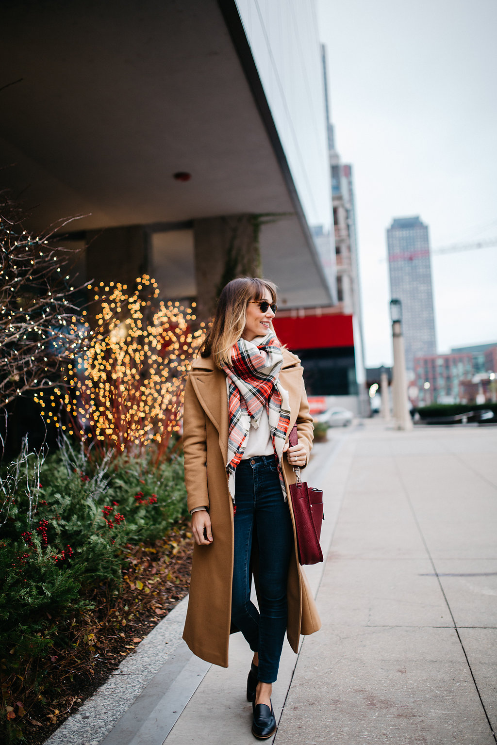 Chicago fashion blogger Blair Staky dressed for winter