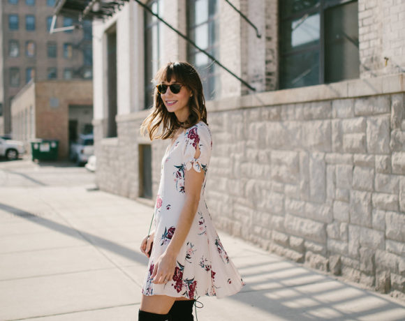 How to Wear a Spring Dress When It's Still Cold