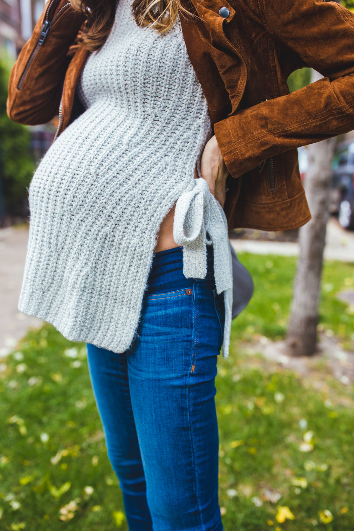 side tie shirt pregnancy style