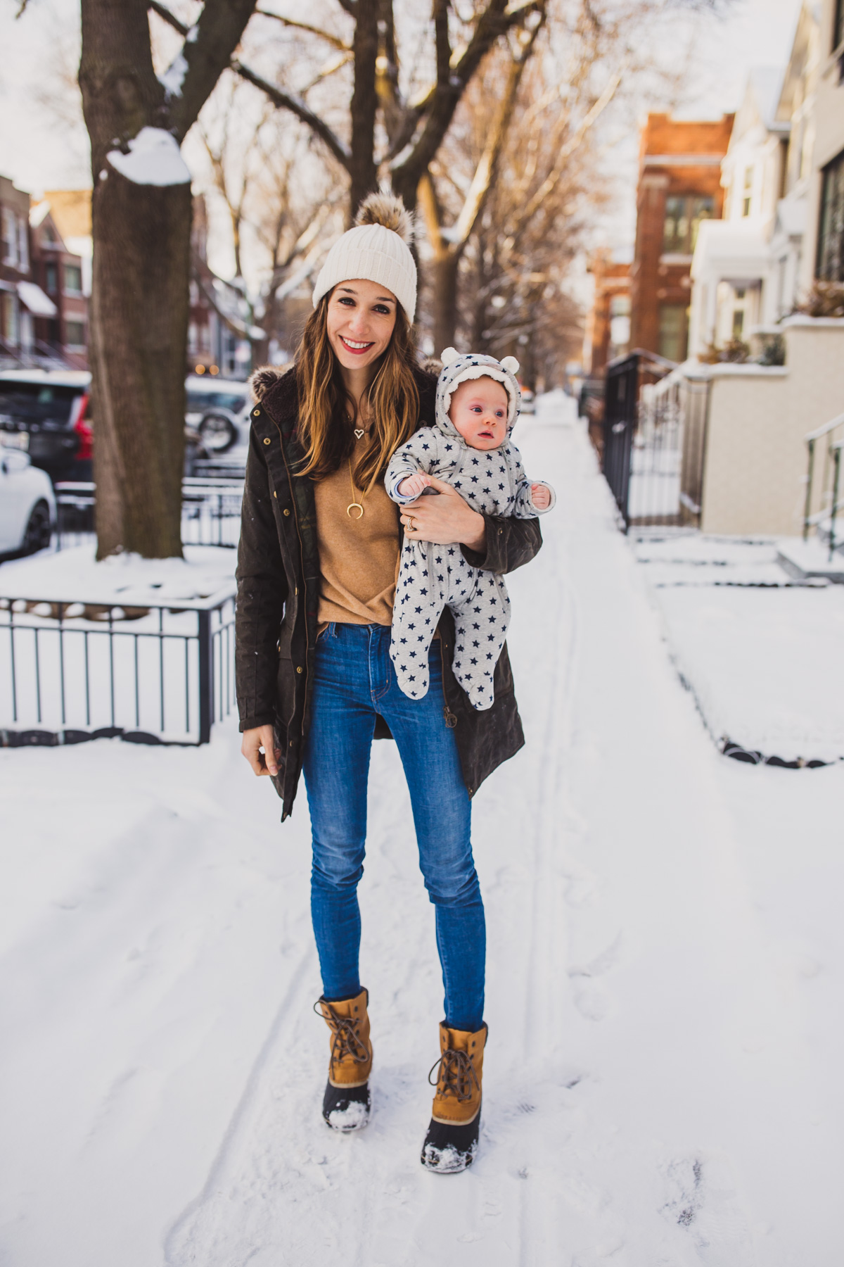 winter outfit for moms