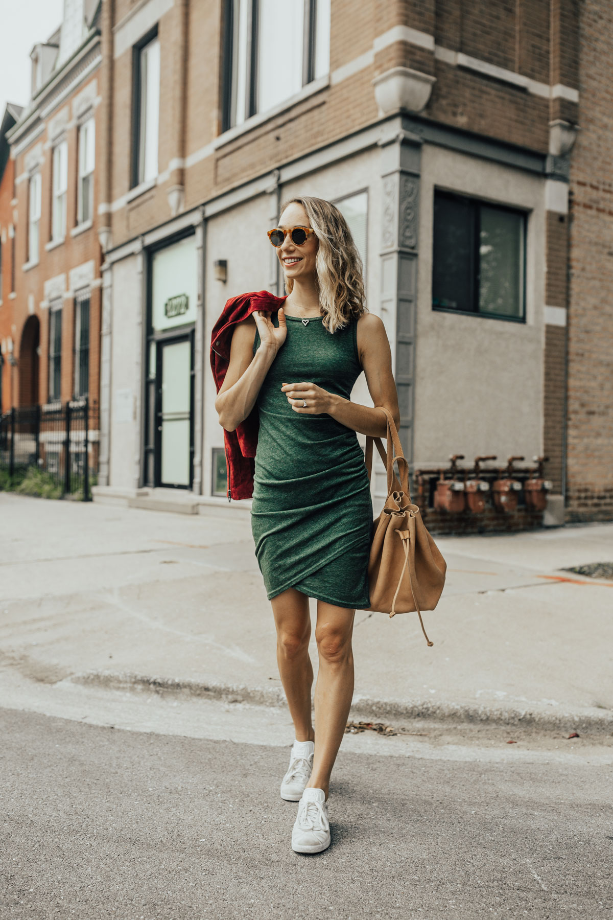 ruched leith dress