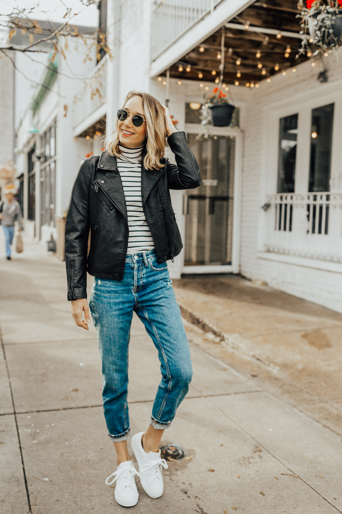 boyfriend jeans outfit for fall