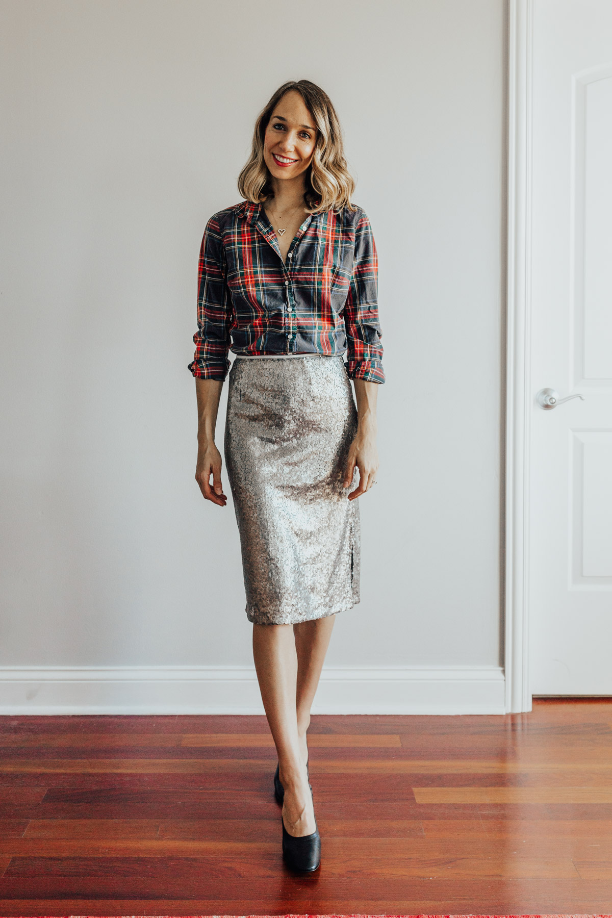 sequin skirt outfits
