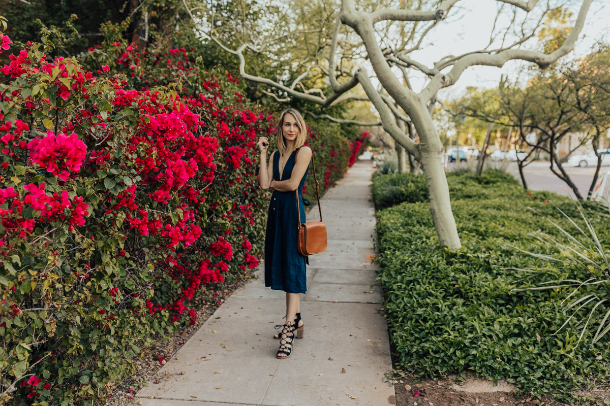 midi dress outfit for summer