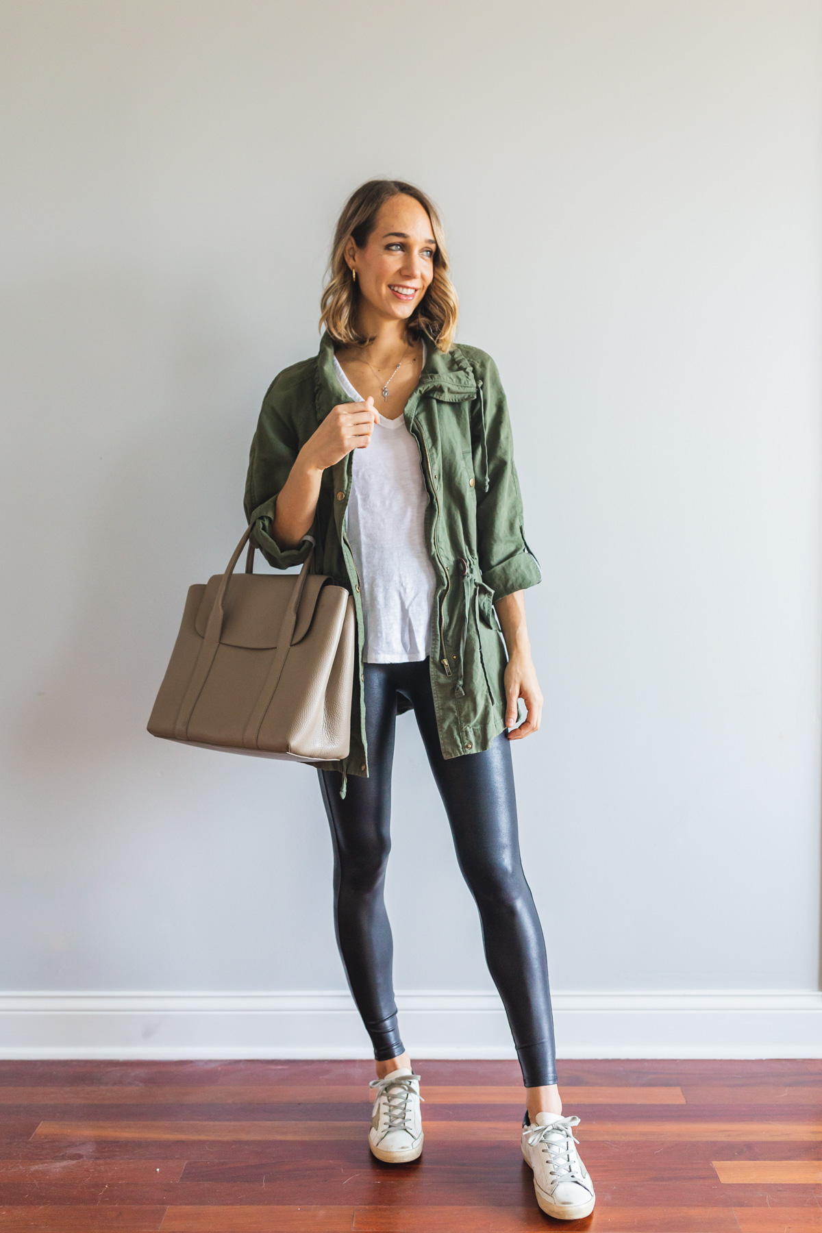 leather leggings outfit casual