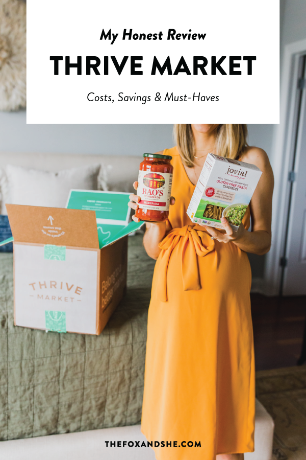 An honest Thrive Market review, a pantry essentials grocery delivery service, and all of our Thrive Market must haves. They have the best sustainable brands, especially for diets like keto, paleo, whole30, vegan, gluten-free and clean eating snacks. Click through for my list of the best things to buy on Thrive Market and save money on groceries. #cleaneating #thrivemarket #healthyliving