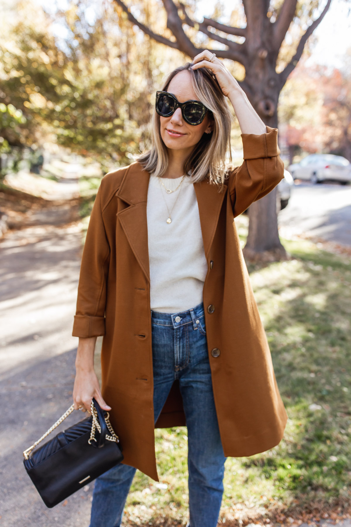 sweater coat outfit