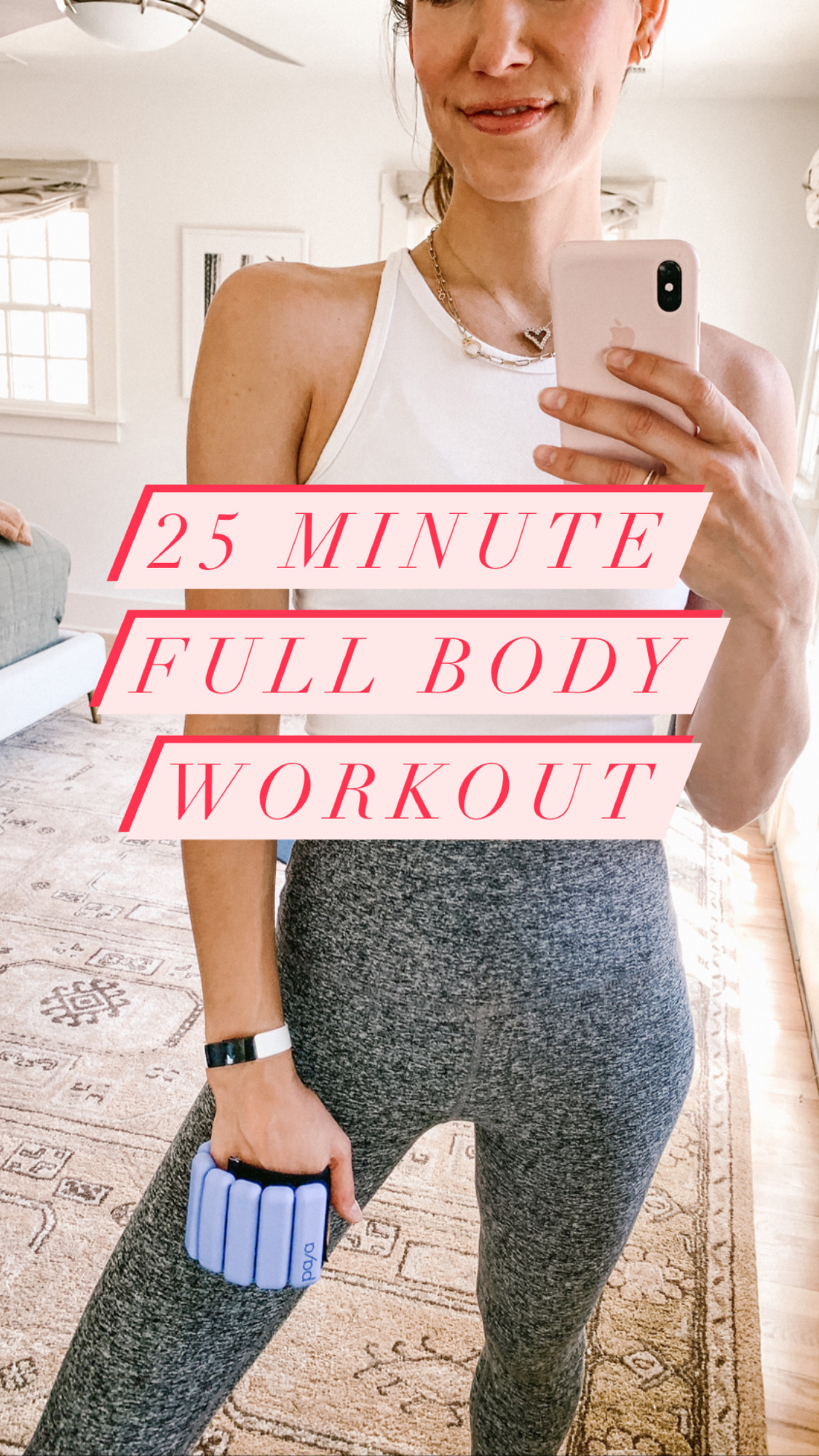 25 minute full body workout with no equipment required. Add 1lb ankle weights for extra resistance *if* you want!