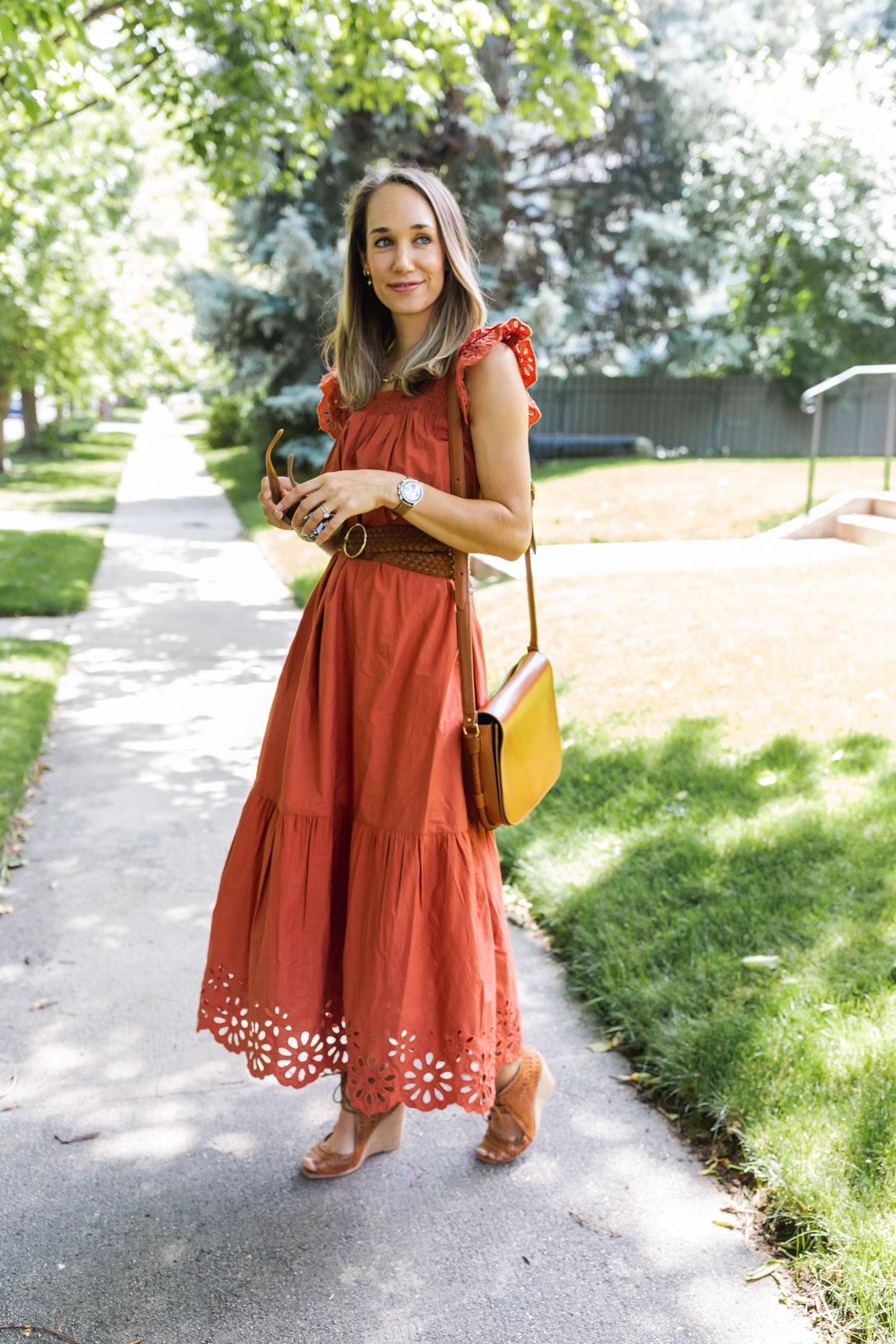 Eyelet dress for summer